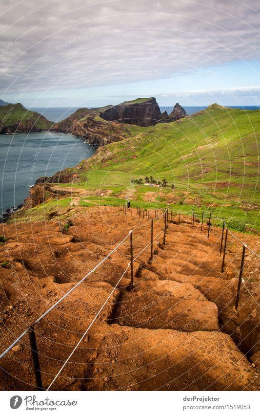 Es ist ein langer Weg Natur Ferien & Urlaub & Reisen Pflanze Meer Landschaft Tier Ferne Winter Strand Berge u. Gebirge Umwelt Küste Freiheit Felsen Tourismus Treppe