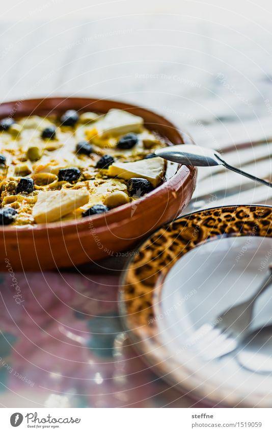 Berberomelette Ei Omelett Oliven mediterran mediterrane küche Ernährung Frühstück Mittagessen Fasten Teller Schalen & Schüsseln Gabel Löffel Essen