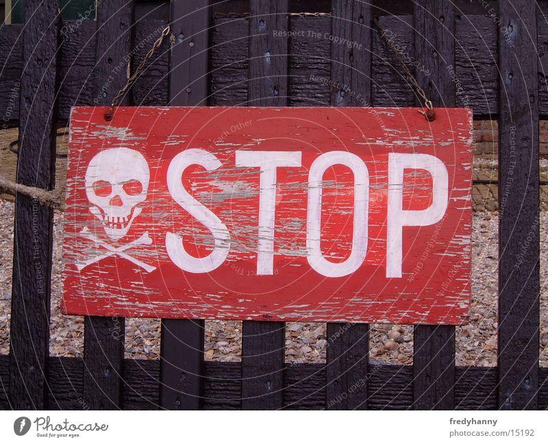 Stopschild der etwas anderen art Warnschild Stoppschild Dinge Schilder & Markierungen