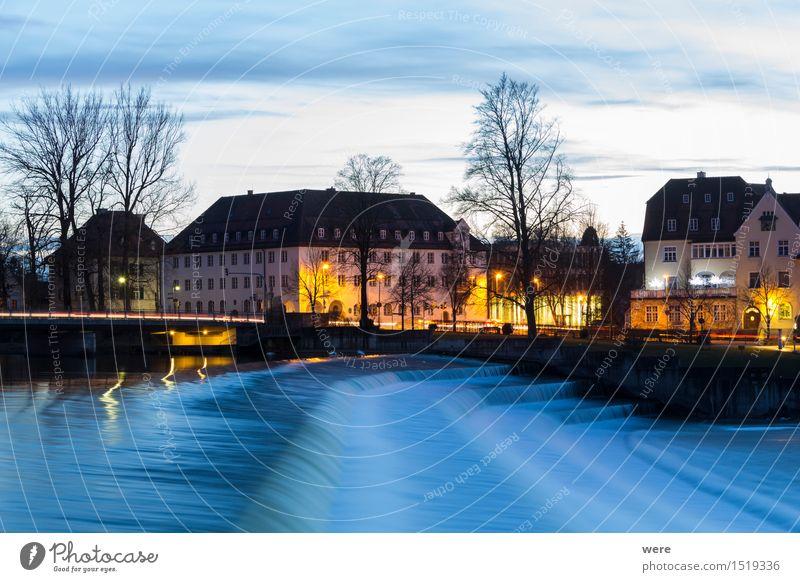 Abends am Lechwehr Ferien & Urlaub & Reisen Haus Architektur Gebäude Häusliches Leben historisch Altstadt Abenddämmerung Bayern Tourist Sanieren Geografie