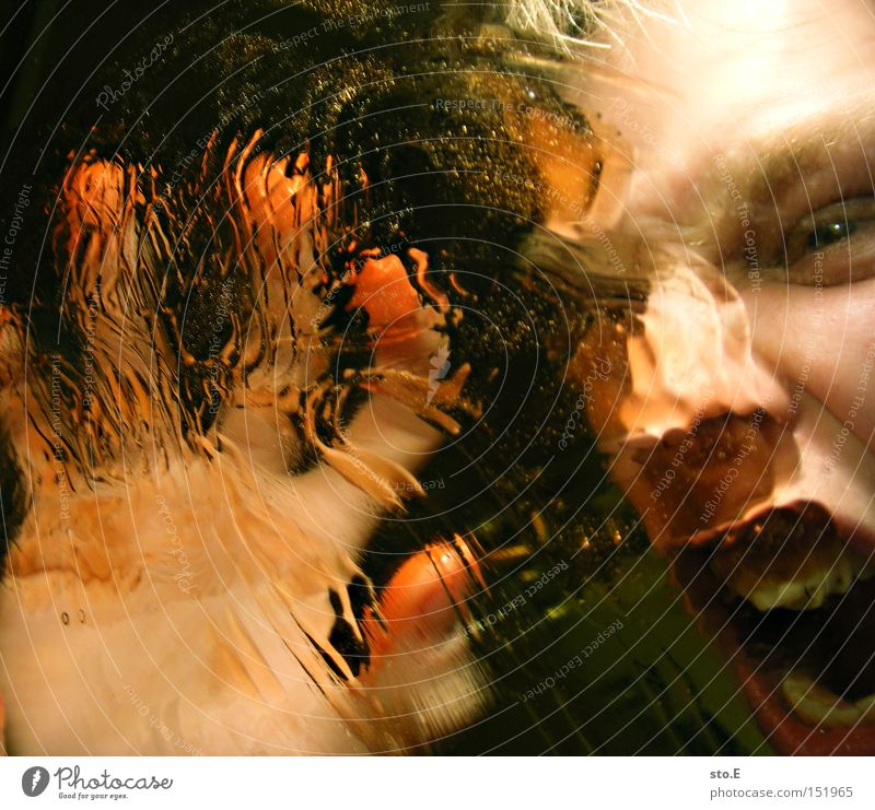 being just a little strange pt.6 Mensch Porträt Gesicht schreien Unschärfe Reflexion & Spiegelung Verzerrung Mund Gefühle Angst Freude abstrakt Panik Wut Ärger