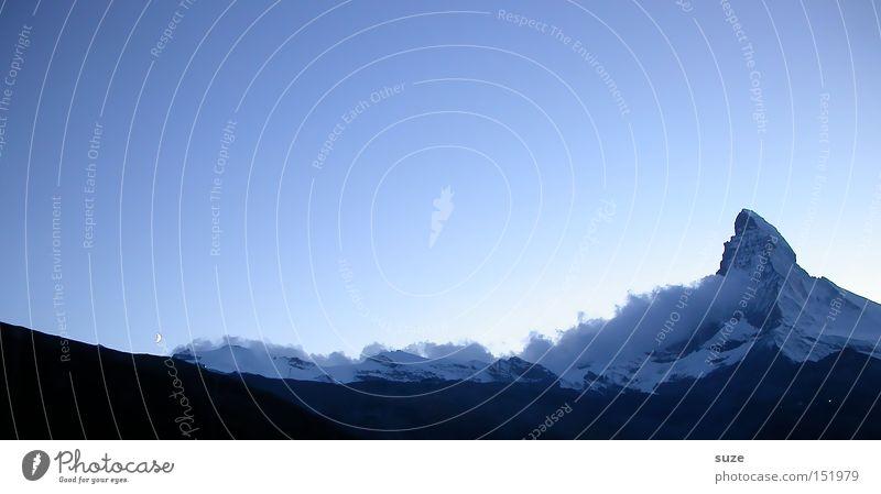Der Berg ruft Himmel Natur blau Ferien & Urlaub & Reisen Wolken Winter Landschaft Ferne Umwelt Berge u. Gebirge kalt Gras Horizont außergewöhnlich groß wandern