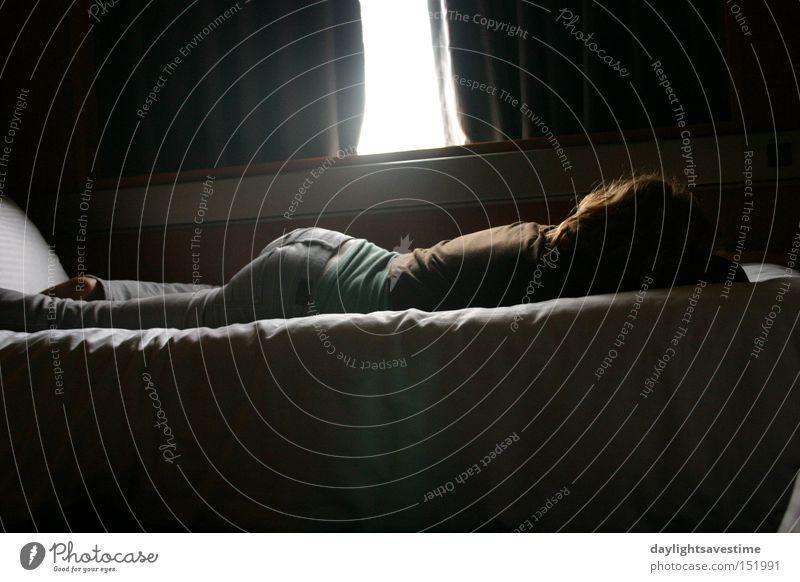 Mensch träumen schlafen Bett Wunder Redewendung Gute Nacht