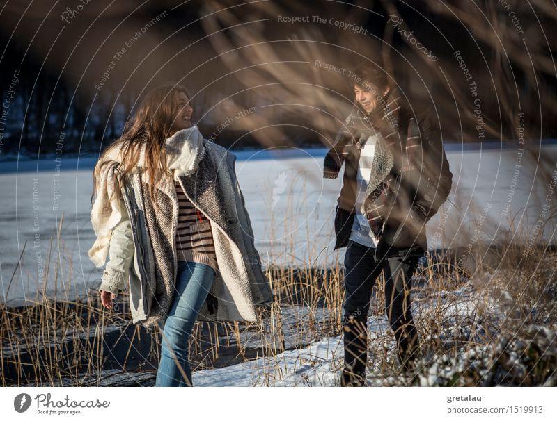 Die Leichtigkeit des Seins Freude Freiheit Sonne Winter Mensch maskulin feminin Junge Frau Jugendliche Junger Mann Geschwister Freundschaft 2 18-30 Jahre
