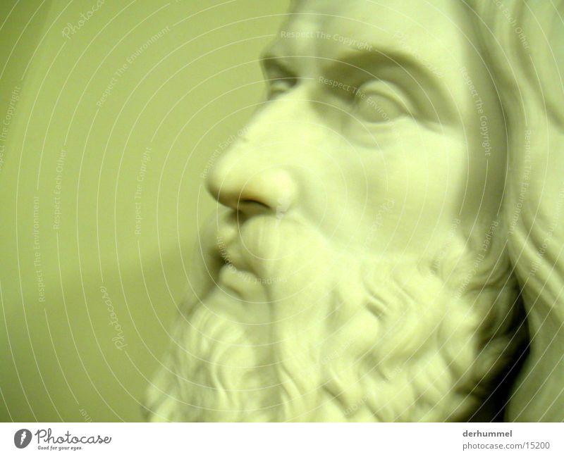 wo sind meine augen ? Mensch Kopf Bart Statue Steinfigur