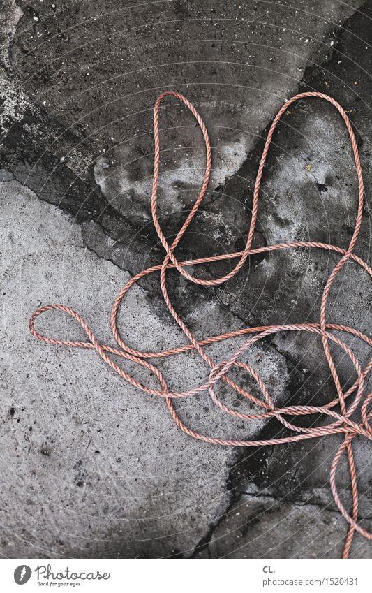 HH16.1 | seil Stein dreckig authentisch Seil Boden durcheinander komplex