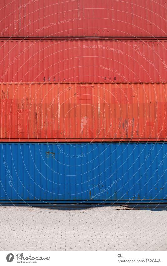 HH16.1 | container blau rot Wachstum Ordnung groß Industrie Baustelle Güterverkehr & Logistik Wirtschaft Arbeitsplatz Konkurrenz Container Containerverladung