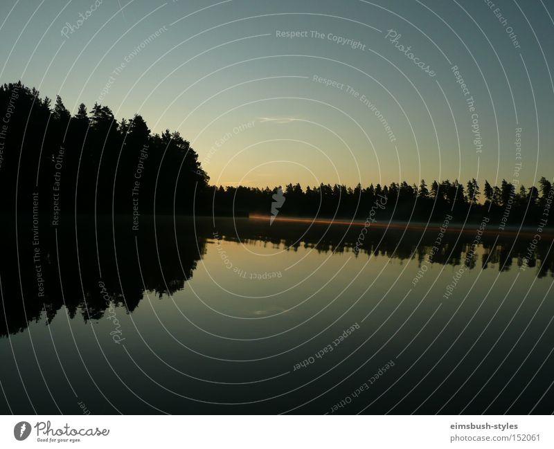 Morgensonne Natur ruhig Wald See Schweden Neuseeland Lake Matheson