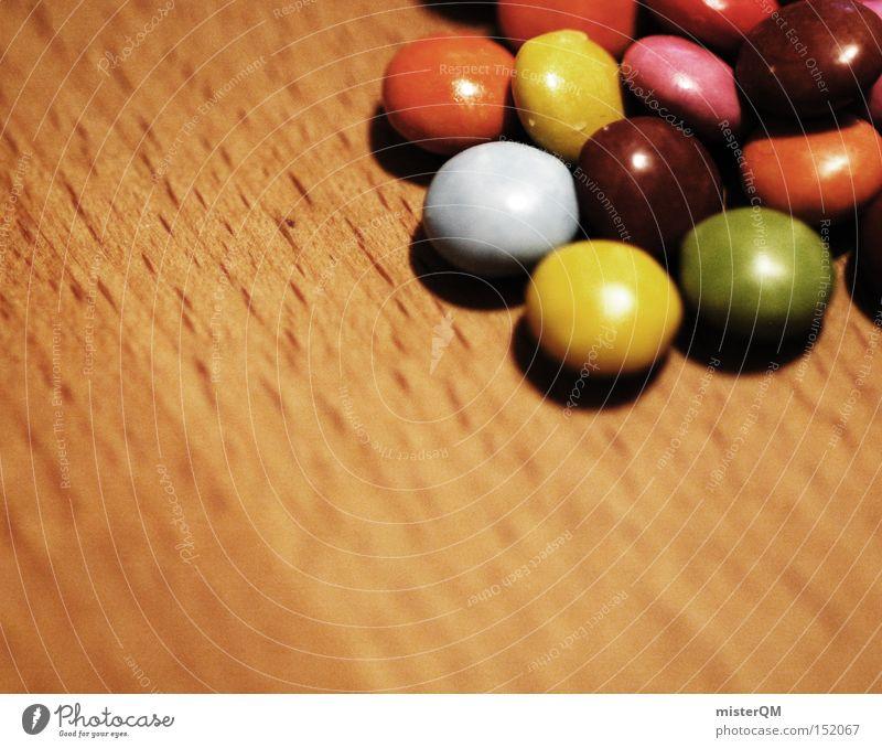 Retro Smarties. Farbe mehrere retro lecker Süßwaren DDR viele Schokolade Zucker Snack Lebensmittel Schokolinsen Dickmacher
