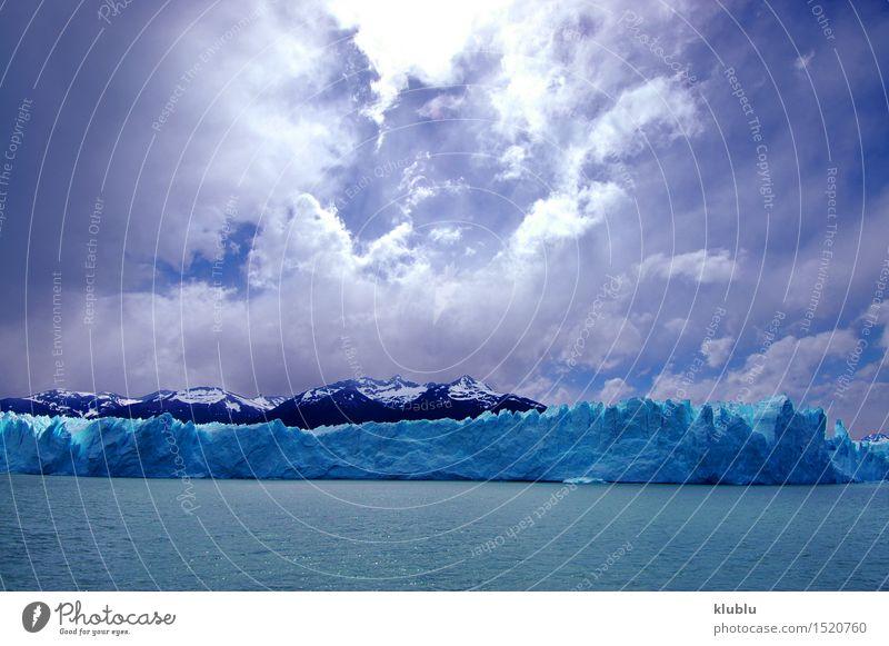 Perito Moreno Gletscher in Patagonien (Argentinien) Ferien & Urlaub & Reisen Meer Winter Schnee Berge u. Gebirge Natur Landschaft Himmel Wolken Park Felsen