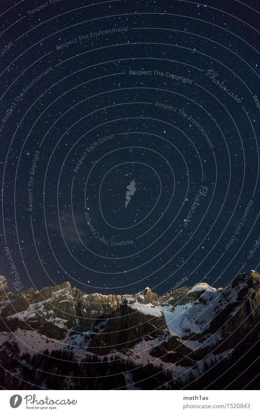 Sternenhimmel Dachstein Bergstation Berge u. Gebirge Schnee Religion & Glaube Horizont Gipfel Schneebedeckte Gipfel Frieden Nachthimmel