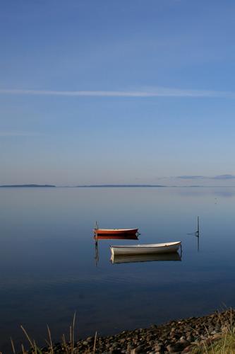 Seelenboote Erholung Ferien & Urlaub & Reisen Umwelt Natur Landschaft Urelemente Luft Wasser Himmel Horizont Schönes Wetter Küste Seeufer Meer Schifffahrt