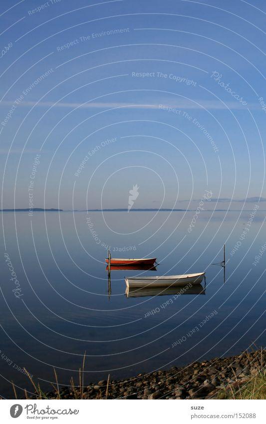 Seelenboote Himmel Natur blau Wasser Ferien & Urlaub & Reisen Meer Einsamkeit Erholung Umwelt Landschaft Küste Luft 2 Horizont Wasserfahrzeug Urelemente