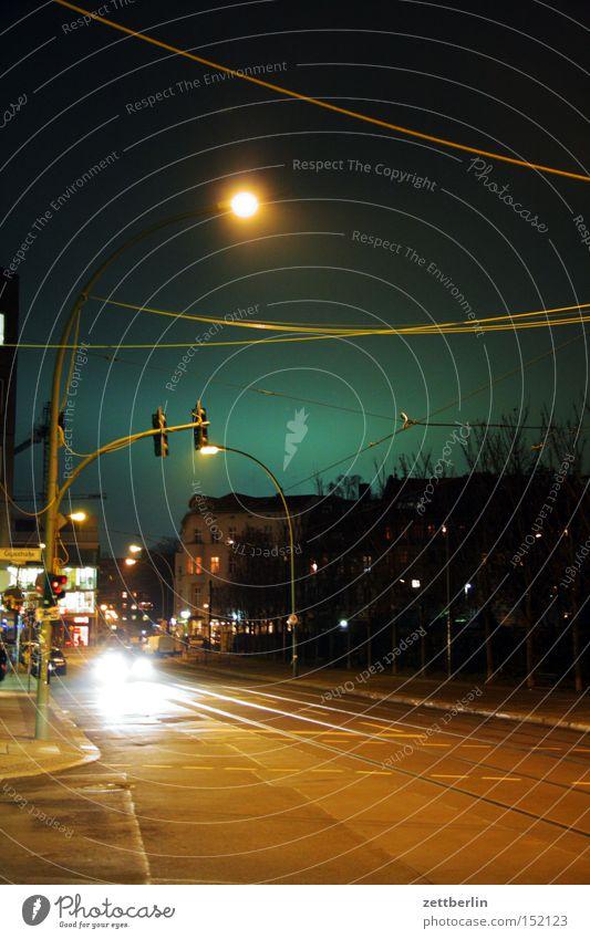Scheunenviertel Berlin Hauptstadt Nacht Mitte Berlin-Mitte Laterne Licht Beleuchtung Nachtfahrt Straßenverkehr Himmel Stern (Symbol) Verkehrswege