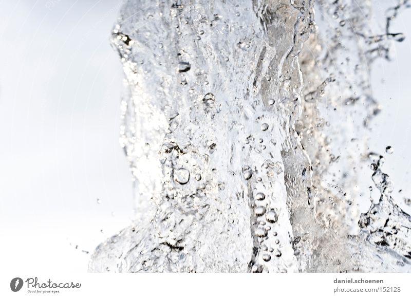 45 Grad im Schatten Wasser Wassertropfen Tropfen Glas Klarheit durchsichtig Hintergrundbild Bewegung Strukturen & Formen Ordnung Trinkwasser weiß blau hell-blau