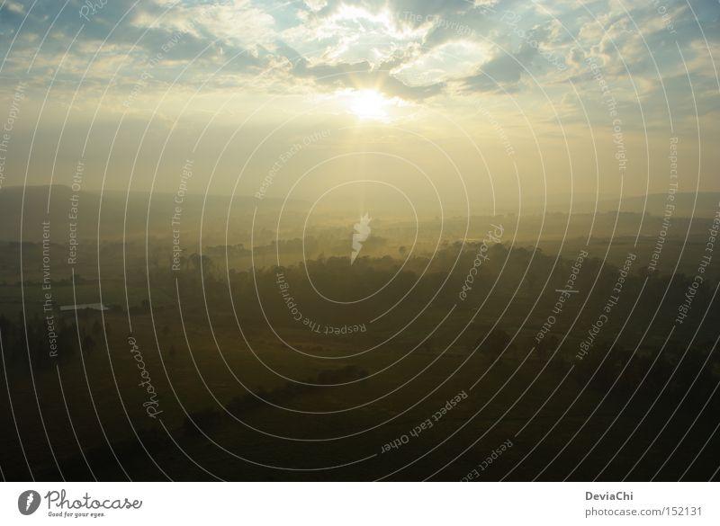 dust in the wind Sonnenaufgang Morgen Südafrika Ballone Nebel Wolken aufwachen Tag