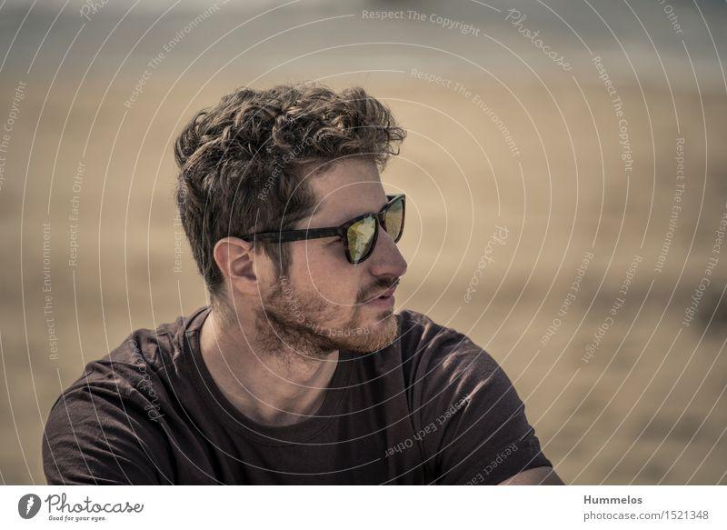 Portrait am Strand Ferien & Urlaub & Reisen Sommer ästhetisch Coolness Freiheit 2015 Hossegor beach strand braun sonnenbrille sunglassses kopf head portrait