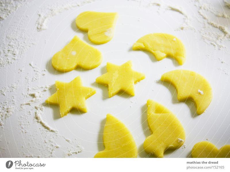 AUSGESTOCHEN Weihnachten & Advent Freude Herz Kochen & Garen & Backen Stern (Symbol) Gastronomie lecker Kuchen Vorfreude Backwaren Teigwaren Plätzchen Mehl