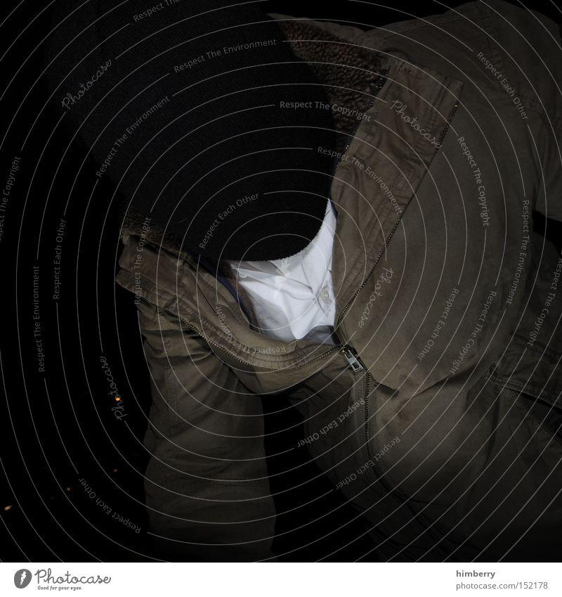fantôme Mensch Mann Bekleidung Jacke Hemd Dieb Überfall Kriminalität Krimineller Attentäter Banküberfall