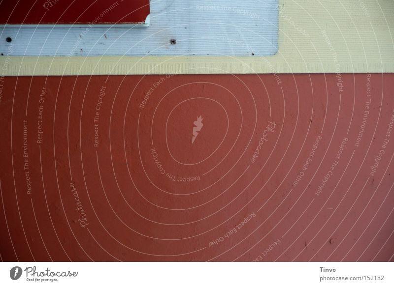 Zinnober rot Wand Farbstoff gestreift