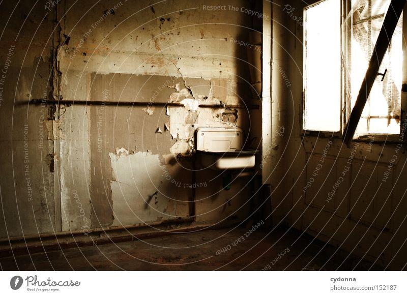 Verwaschen Einsamkeit Haus Fenster Zeit Raum Häusliches Leben Vergänglichkeit verfallen Nostalgie Villa Waschbecken Klassik altmodisch Leerstand Jahrhundert
