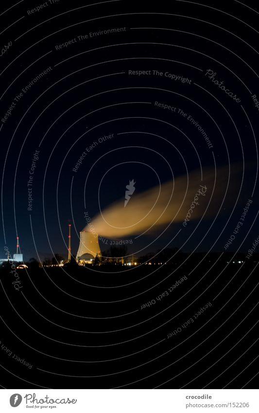 Dreckschleuder lll Beleuchtung Kraft Industrie Elektrizität gefährlich bedrohlich Strahlung Umweltverschmutzung Kernkraftwerk resignieren Müll ausschalten