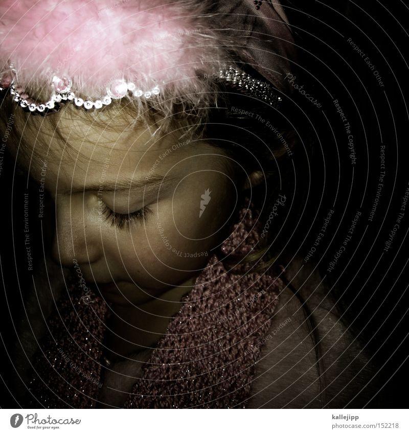 lillifee Kind Mädchen Balletttänzer Maske Karnevalskostüm Prinzessin Spielen Fee rosa träumen Haarreif Schal Gesicht Porträt Kindheit Wimpern Nase