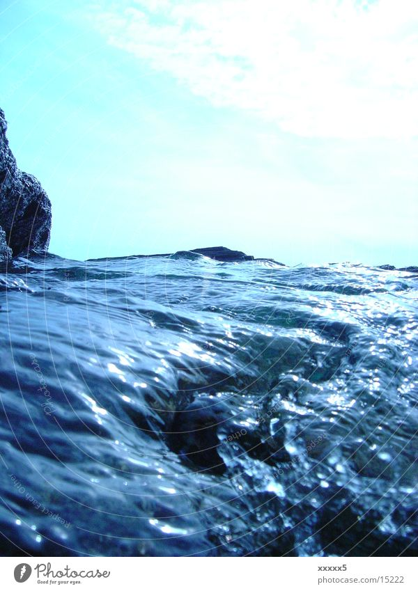 wasserberg Wasser Meer Wellen Makroaufnahme