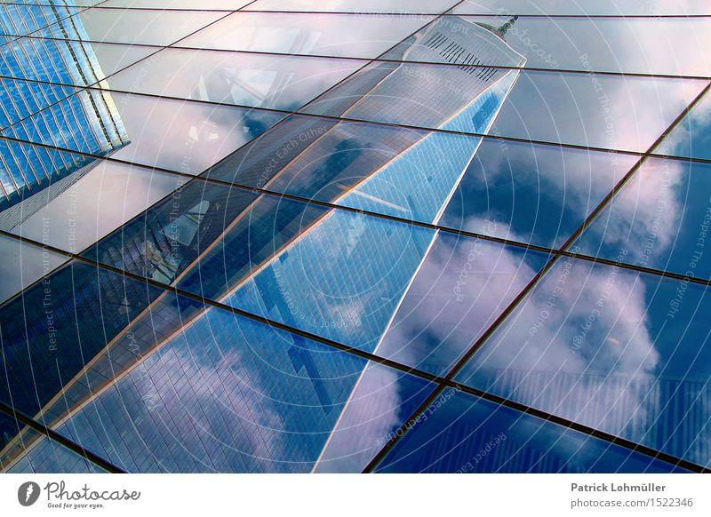 World Trade Center New York Himmel Stadt Wolken Architektur Gebäude Business Fassade Design Büro elegant modern Glas Hochhaus ästhetisch Schönes Wetter Bauwerk