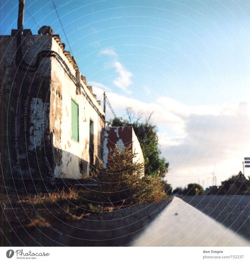 antigua Straße Insel alt Fuerteventura Mittelformat analog verfallen casa Amerika