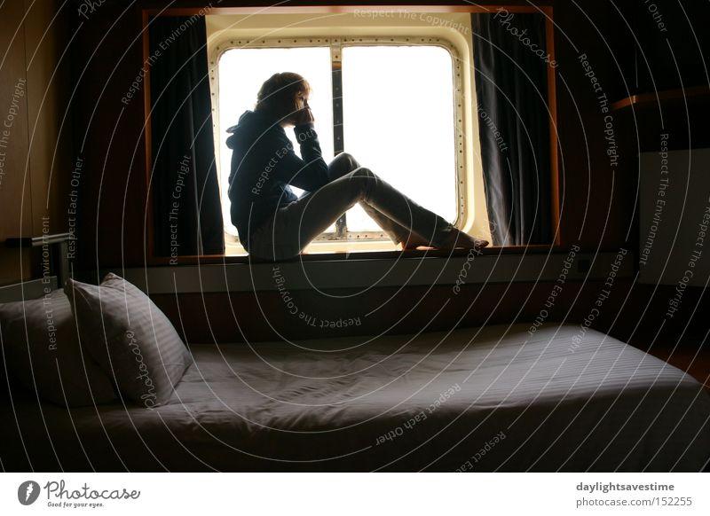 Stil Fenster Wasserfahrzeug Bett Frieden Mexiko Kreuzfahrt
