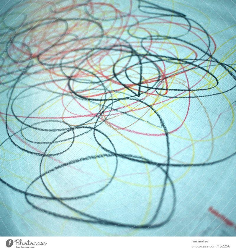 junger expressionist Kunst modern verrückt Kreis Gemälde obskur Rahmen durcheinander Pinsel Anstreicher Maler Zeichnung Farbstift Bauhaus Kunstgalerie
