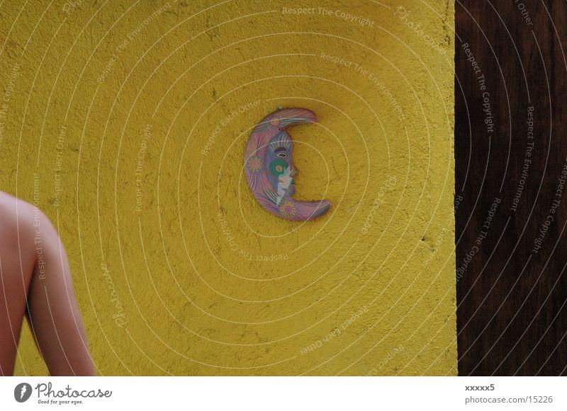 Nachtmensch gelb Farbe Freizeit & Hobby Mond Schulter