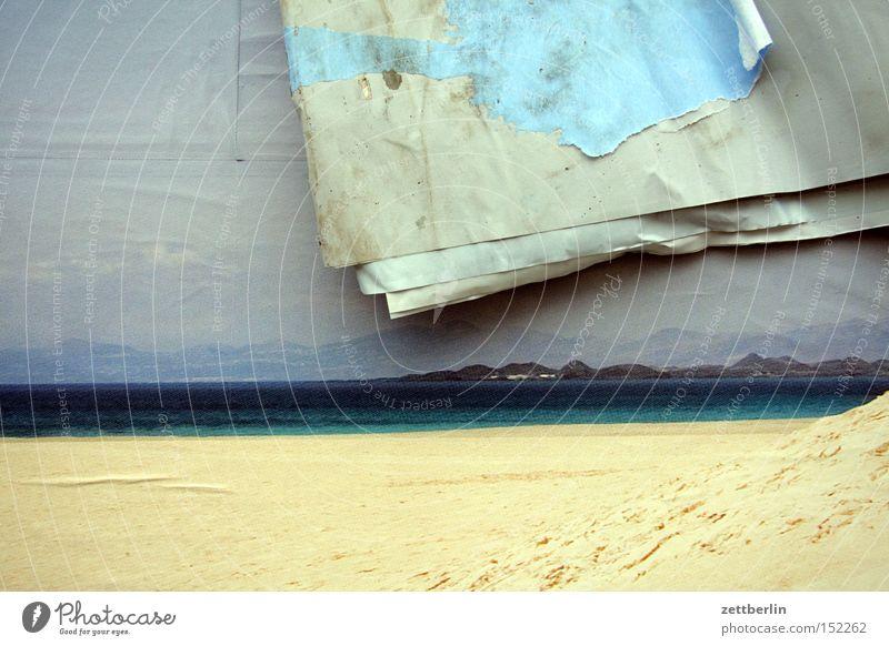 Sehnsucht Meer Strand Ferien & Urlaub & Reisen Küste Fotografie Dekoration & Verzierung Vergänglichkeit Werbung Poster Plakat Raster wirklich Phantasie