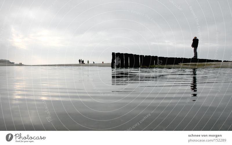 geburtstagsgrüße Mann Wasser Meer Balken Holz Ferne See Wellen Geburtstag