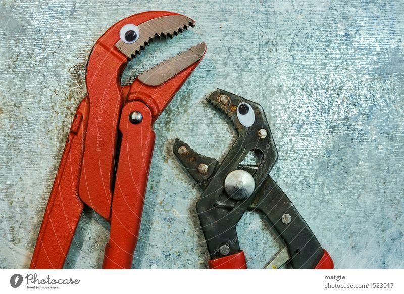 Beruhige dich! Arbeit & Erwerbstätigkeit Beruf Handwerker Arbeitsplatz Baustelle Dienstleistungsgewerbe Werkzeug Schere Tier Vogel 2 Metall rot silber