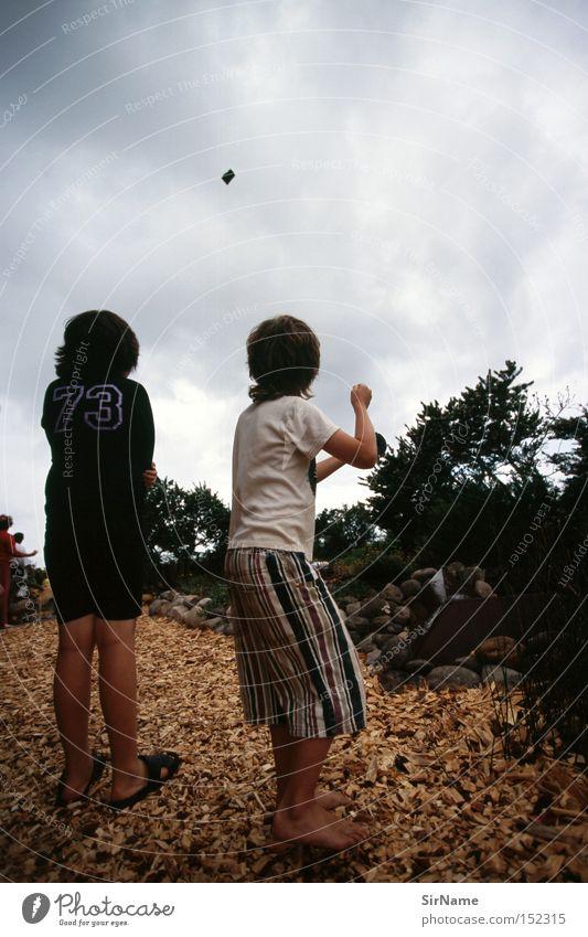 Kind Freude Wind Leidenschaft Unwetter Sturm Gewitter Lenkdrachen Spielzeug
