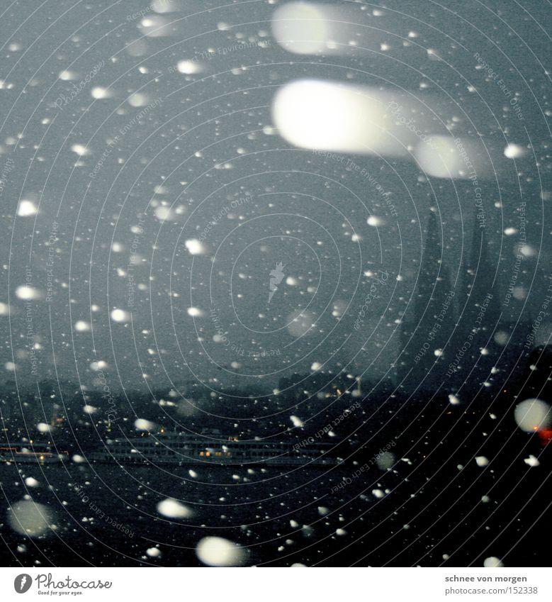 ...alles für alle - frohe weihnachten! Winter kalt Schnee grau Denken Schneefall Wetter Kirche Köln Reflexion & Spiegelung Dom Kathedrale Rhein Gotteshäuser