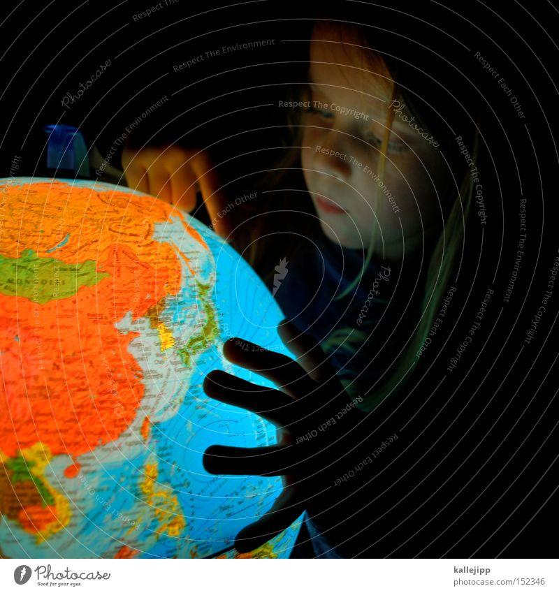 weihnachtskugel Erde Bildung Globus Klima Geografie Amerika Länder Grundbesitz Australien + Ozeanien Meer Kind Mädchen lernen Schule Kontinente
