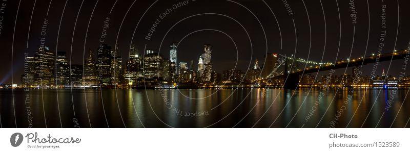 Panorama Manhatten Ferien & Urlaub & Reisen Stadt Architektur Freiheit Business Wohnung Design Büro Kraft Hochhaus Brücke Turm USA Skyline Bankgebäude