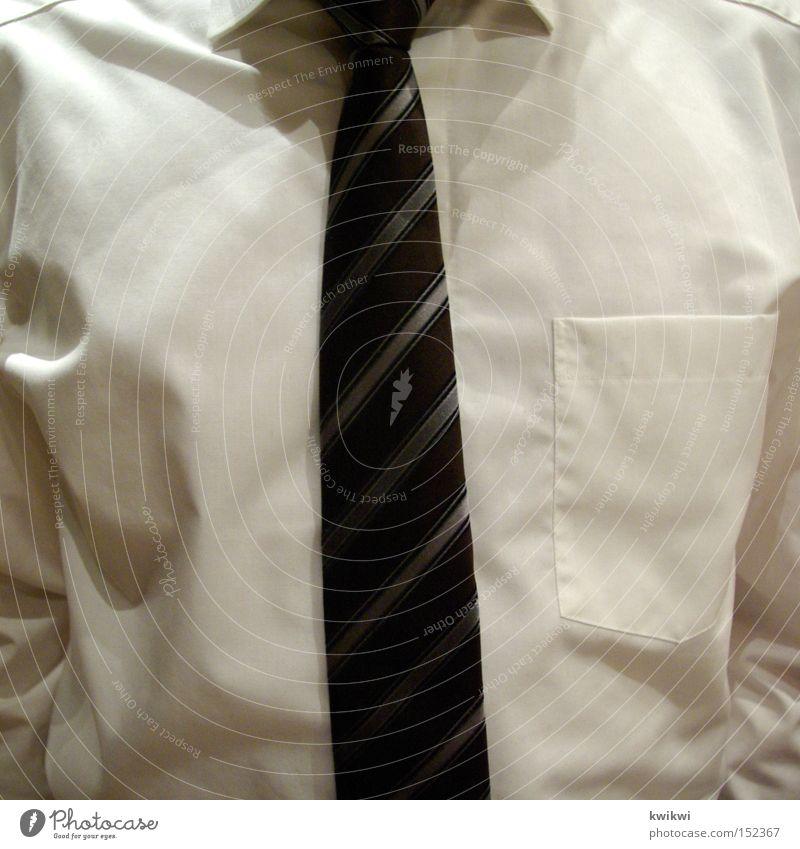 spießerbruder Hemd Krawatte Kragen weiß Mann schick elegant Streifen Brust Tasche