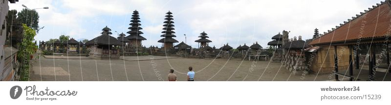 Bali Tempel (Panorama) Panorama (Aussicht) Pagode Religion & Glaube Kultur Asien Platz Los Angeles groß Panorama (Bildformat)
