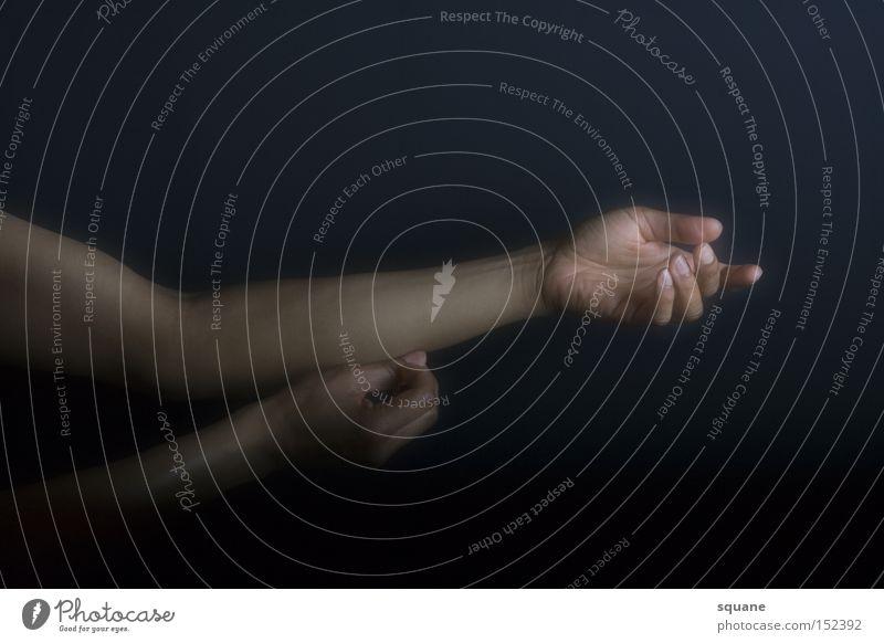 trivial pose 02 Arme Hand Finger Daumen Haut Unterarm Gelenk flach Erholung Gefäße offen Hautfalten Mensch Frieden Schwäche Verkehrswege Zufriedenheit Elle Ecke