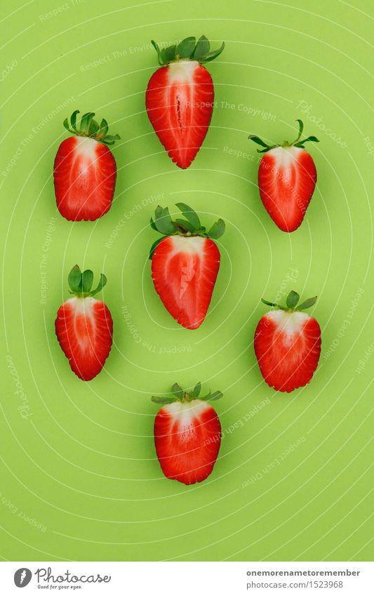 Erdbeer-Regen grün Gesunde Ernährung rot Lifestyle Lebensmittel Design Dekoration & Verzierung ästhetisch lecker Bioprodukte Teilung Vegetarische Ernährung Diät