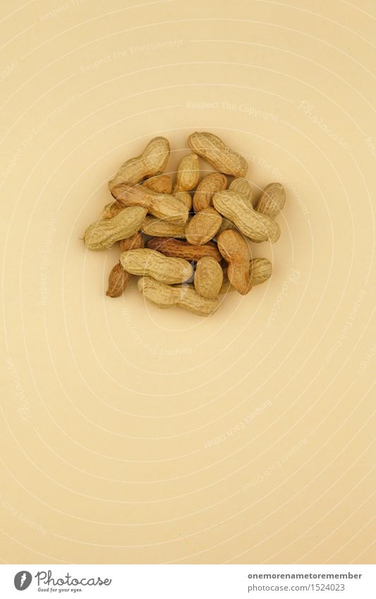 Erdnuss-Salat Gesunde Ernährung Kunst braun ästhetisch viele lecker Bioprodukte ökologisch Kunstwerk Hülle beige Snack Snackbar Erdnussernte