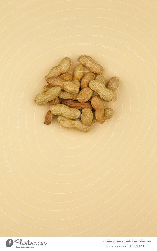 Erdnuss-Salat Kunst Kunstwerk ästhetisch Erdnussernte lecker Snack Snackbar braun beige viele Gesunde Ernährung ökologisch Bioprodukte Hülle Farbfoto mehrfarbig