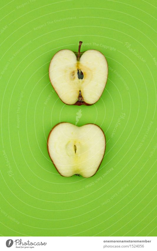 Apfel... Zack! Kunst Kunstwerk ästhetisch Apfel der Erkenntnis Apfelernte Apfelsaft Apfelschale Apfelkuchen Apfelkompott Apfelstiel grün lecker