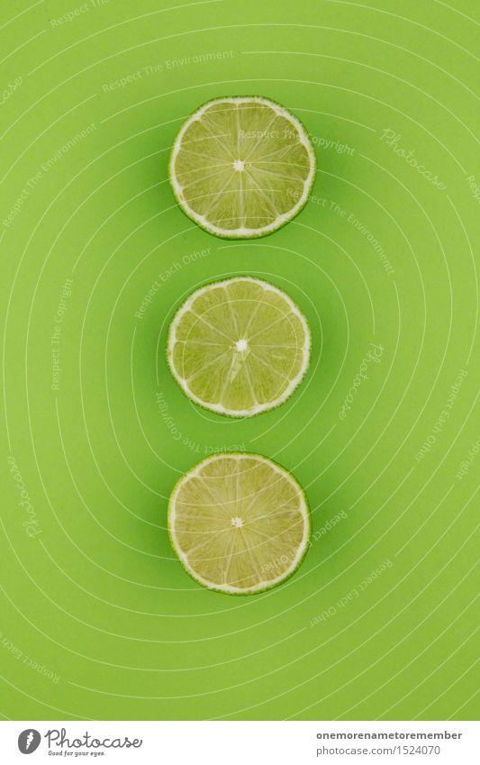 Limette und Zack-Zack grün Kunst Dekoration & Verzierung ästhetisch Küche Kunstwerk Cocktail Limone grasgrün Cocktailbar Caipirinha giftgrün Limettenscheibe