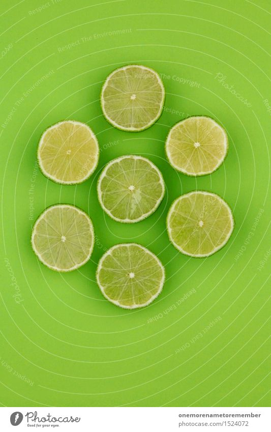 Limetten-Gemetzel Kunst Kunstwerk ästhetisch Limone Limettenscheibe grün giftgrün knallig grasgrün Dekoration & Verzierung lecker Gesunde Ernährung 7 Scheibe
