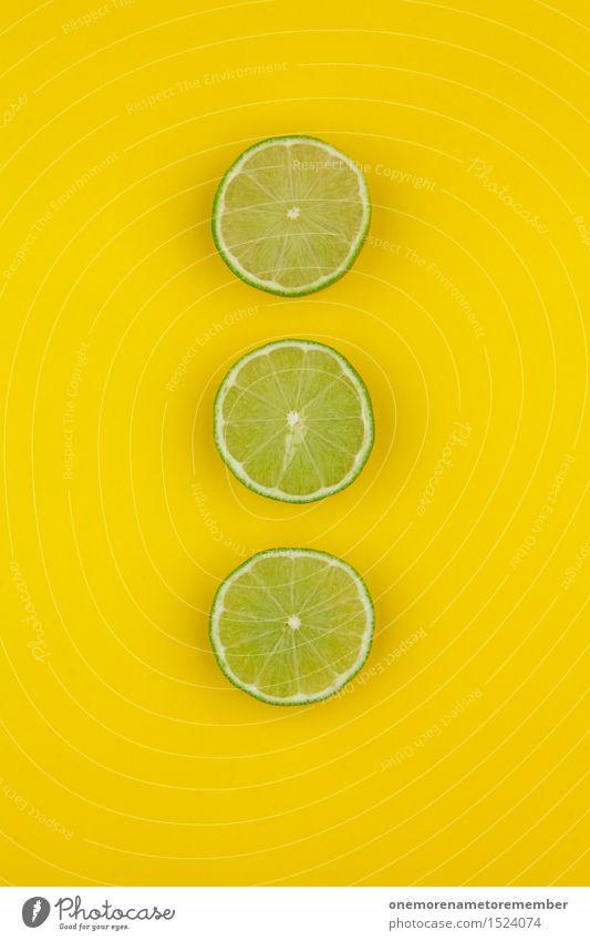 Drei Caipi Kunst Kunstwerk ästhetisch 3 Limone Limettenscheibe gelb lecker Caipirinha vitaminreich Vitamin C sauer Dekoration & Verzierung Muster Symmetrie